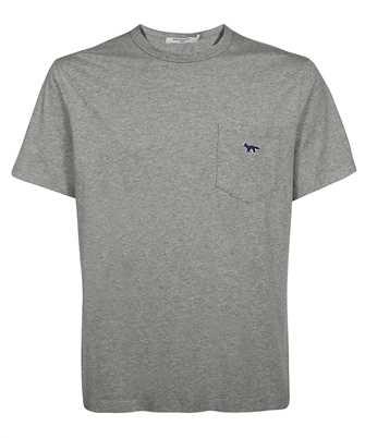 Maison Kitsune HM00136KJ0008 FOX PATCH CLASSIC POCKET T-shirt