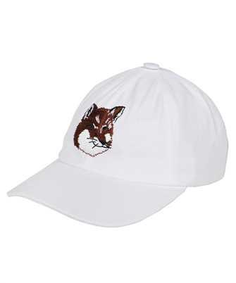Maison Kitsune GU06118WW0007 LARGE FOX HEAD EMBROIDERY Cap
