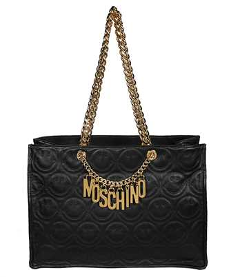 Moschino A7443 8002 SMILEY©LARGE NAPPA LEATHER Tasche