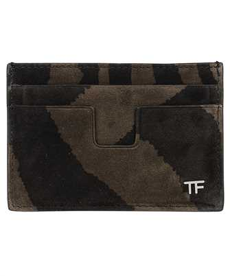 Tom Ford Y0232P-LCL078 ZEBRA SUEDE Card holder