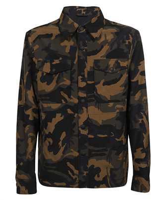 Don Dup UJ757 PX0118 XXX CAMOUFLAGE PATTERN SEERSUCKER SHIRT Jacket