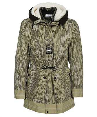 Stone Island 429E1 NASLAN LIGHT WATRO RAIN CAMO REFLECTIVE WITH DETACHABLE NYLON RASO/SHEEPSKIN LINING Jacket