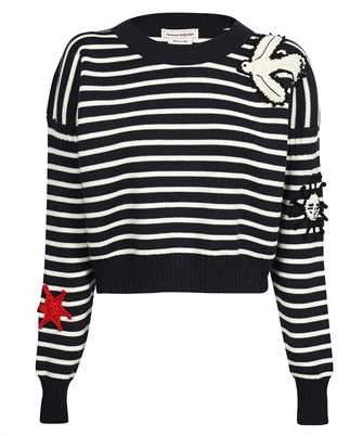 Alexander McQueen 667831 Q1AVQ CROCHET PATCHES Knit