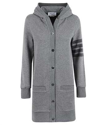 Thom Browne FJT141A 06910 HIP LENGTH HOODED Strickjacke