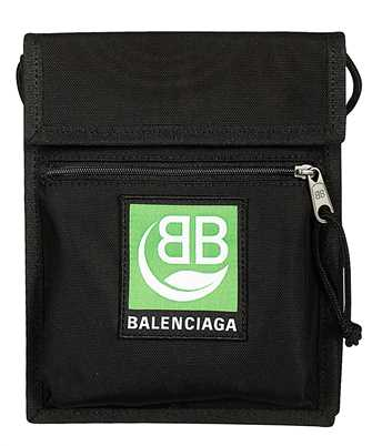 Balenciaga 532298 9WB95 GREEN LOGO MEDIUM MARKET Borsa