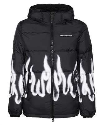 Vision Of Super PUFFYFL WHITE FLAMES Jacket