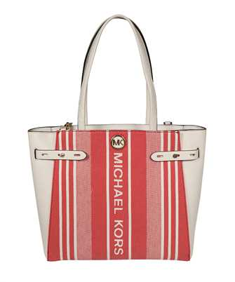 Michael Kors 30S1GNMT3C CARMEN LARGE STRIPED JACQUARD AND LEATHER TOTE Tasche