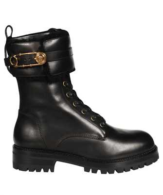 Versace DST419E DVPS SAFETY PIN LEATHER LACE-UP Boots