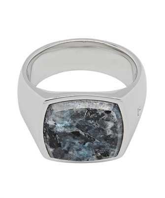Tom Wood R74HPM BO 01 CUSHION LARVIKITE Ring
