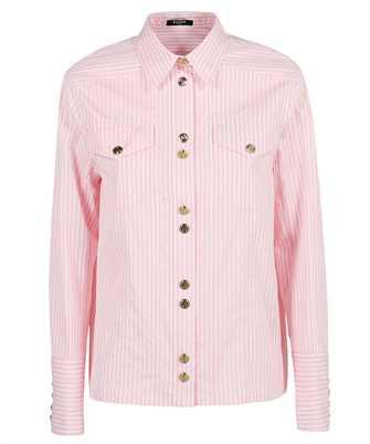 Balmain WF1HS106C300 STRIPED COTTON-POPLIN Camicia