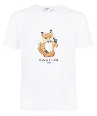 Maison Kitsune HM00130KJ0008 ALL RIGHT FOX PRINT CLASSIC T-shirt