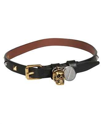 Alexander McQueen 551155 1BUWZ HAMMERED STUDS DOUBLE-WRAP Bracelet