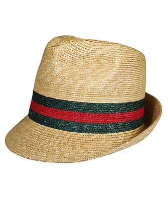 Gucci 434760 K0M00 WOVEN STRAW FEDORA Hat