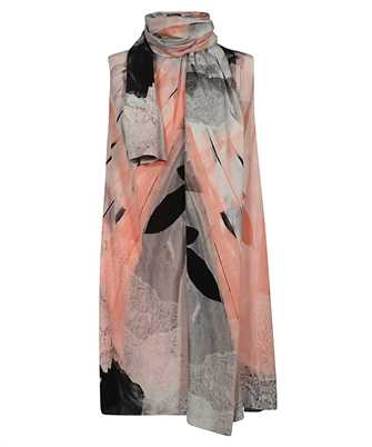 Alexander McQueen 651107 QZACI TROMPE L OEIL SCARF NECK Dress