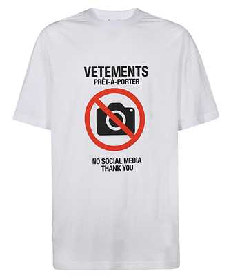 Vetements UAH21TR546 ANTISOCIAL T-shirt