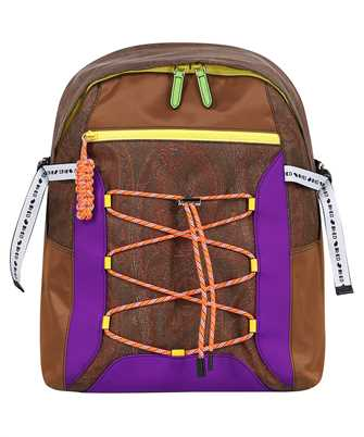 Etro 1N553 8568 PAISLEY WITH MULTICOLORED DETAILS Backpack