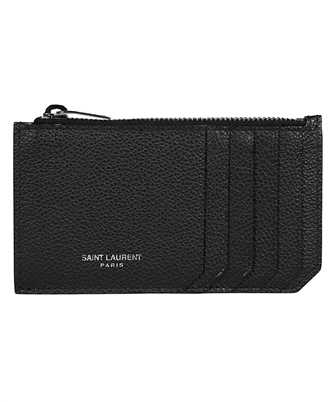 Saint Laurent 631992 B680N FRAGMENTS Porta carte di credito