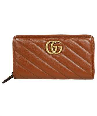 Gucci 443123 0OLFT GG MARMONT MATELASSÉ ZIP AROUND Geldbörse