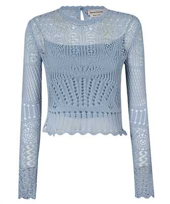 Alexander McQueen 650278 Q1ASD PATCHWORK LACE KNITTED Top