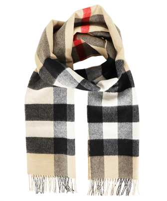 Burberry 8045177 REVERSIBLE CHECK AND MONOGRAM CASHMERE Scarf
