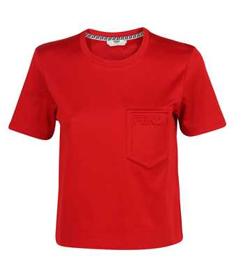 Fendi FS7389 AFLD CROPPED WITH EMBOSSED LOGO T-Shirt