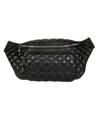 Balmain SM1S037LNMT QUILTED LEATHER Waist bag