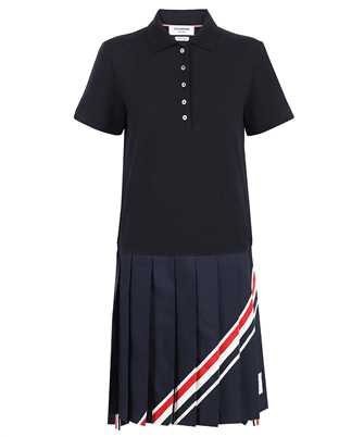 Thom Browne FJD078A-00050 SHORT SLEEVE PLEATED BOTTOM Dress