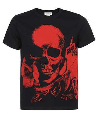 Alexander McQueen 650424 QQZ66 FLORAL SKULL T-Shirt