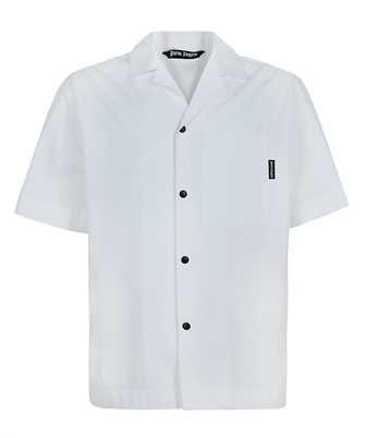 Palm Angels PMGA037S21FAB006 CURVED LOGO BOWLING Shirt