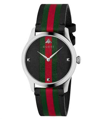Gucci Timepieces YA1264079 126MD BLK&GRG/STL/BLK&GRG CF 38mm Watch