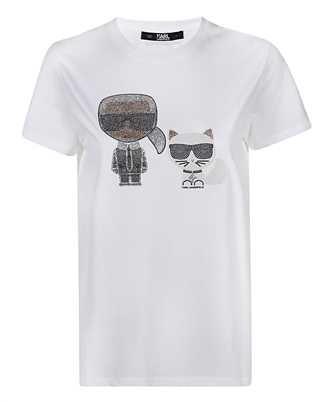 Karl Lagerfeld 205W1708 IKONIK RHINESTONE T-shirt