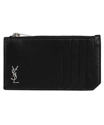 Saint Laurent 629899 1JB0E TINY MONOGRAM FRAGMENTS ZIP Card holder