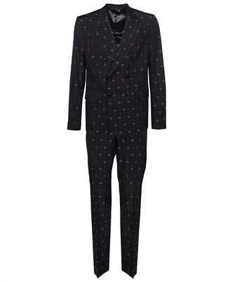 Gucci 660190 ZAGWR INTERLOCKING G STRIPE WOOL Suit