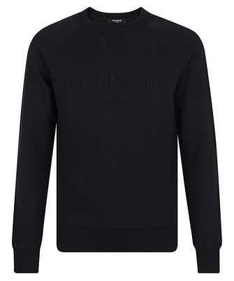 Balmain VH1JQ005B025 EMBOSSED LOGO Sweatshirt