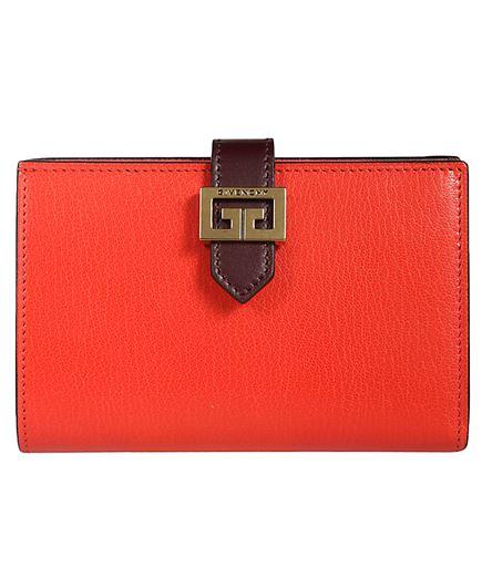Givenchy BB601GB056 rote Ledergeldbörse mit Schnalle