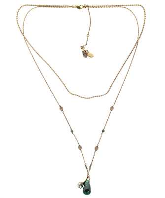Alexander McQueen 667574 I4620 SEAL SIGNATURE DOUBLE LAYER Necklace