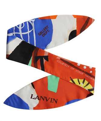 Lanvin AW SAFT01 GADE E21 GALLERY DEPARTMENT PRINT SILK 121X41 Scarf