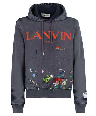 Lanvin RM HO0001 J093 E21 GALLERY DEPT. WITH WORN EFFECT PAINT MARKS Hoodie
