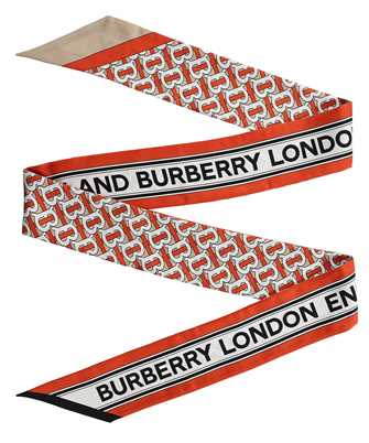 Burberry 8030561 MONOGRAM AND LOGO PRINT SILK SKINNY Scarf
