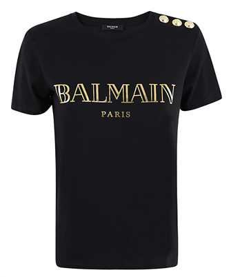 Balmain UF11350I366 VINTAGE LOGO T-shirt