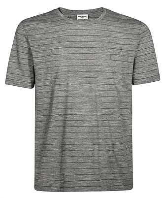 Saint Laurent 605252 YBQI2 LAME STRIPES T-shirt