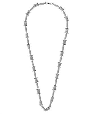 Darkai DICO0011BBDIL BARBED WIRE ICED OUT Collana