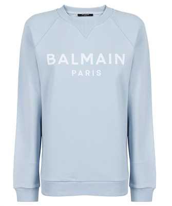 Balmain WF1JQ000B044 FLOCKED LOGO Sweatshirt