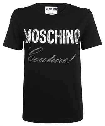 Moschino A 0706 5540 CRYSTAL LOGO JERSEY T-shirt