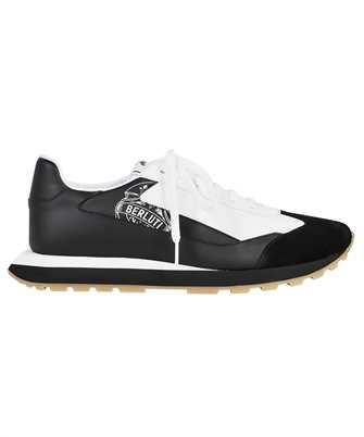 BERLUTI S5544 002 GRAPHIC LEATHER SUEDE AND NYLON Sneakers