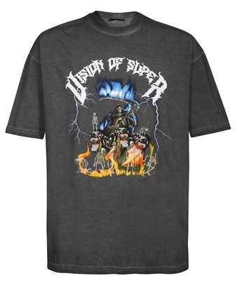 Vision Of Super G1BLUSKULL BLUE SKULL PRINT T-shirt