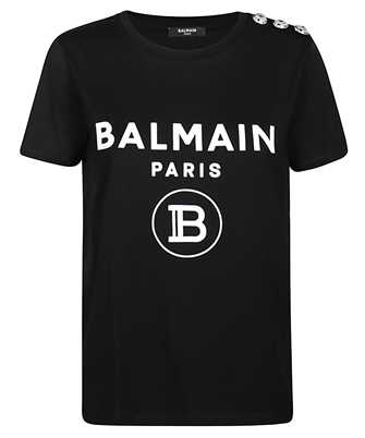 Balmain TF01350I386 FLOCKED LOGO T-shirt
