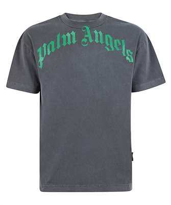 Palm Angels PMAA001R21JER008 VINTAGE WASH CURVED LOGO T-shirt