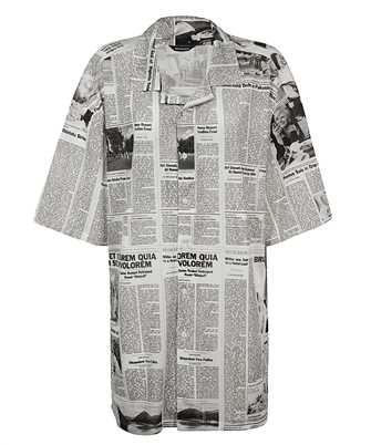 Balenciaga 647651 TJLJ7 NEWSPAPER PRINT Shirt