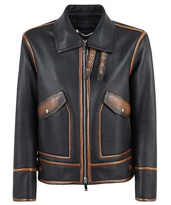 BERLUTI R18LBL89 001 PATINA DETAILS LEATHER Jacket